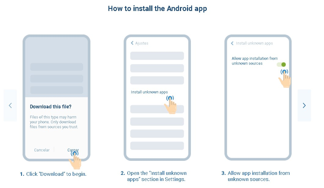 1xBet how to install Android app