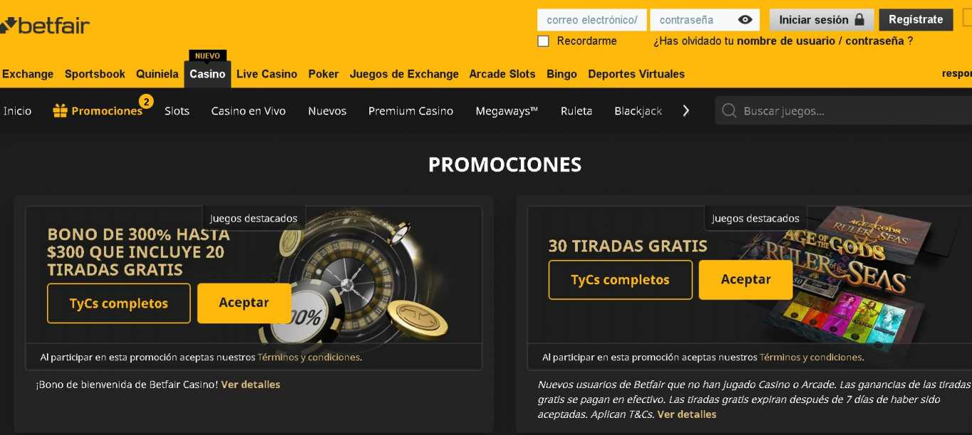 Betfair promo code casino